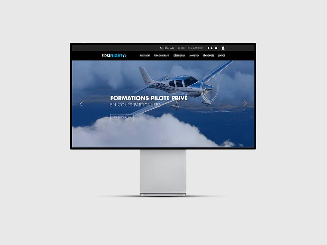 Création site ecommerce FirstFlight