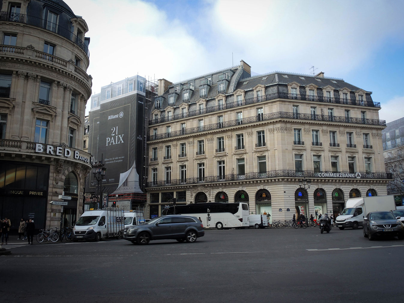 Bâche publicitaire échafaudage Allianz Real Estate by Wedezign