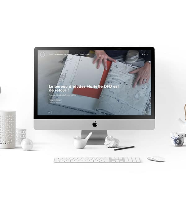 Site web ecommerce Mariette DFD